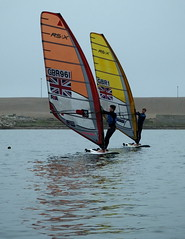 Whilst rowing on a very misty day.... watched elite windsurfers... with very cold toes and no wind... (Sue - happy sparrow) Tags: portland harbour portlandharbour wpsa sailingacademy windsurfers windsurfing elitesportsmen misty weather