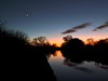 Venus and the Moon (John of Wirral) Tags: venus crescent moon dusk shropshireunion canal sunset sky cheshire countryside trees silhouette darkness