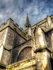 St Saviour's Church, Cardiff (All I want for Christmas is a Leica) Tags: cardiff church churchesinwales churchtower churches architecture tonemapped