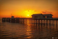Penarth Pier sunrise (technodean2000) Tags: penarth pier sunrise south wales uk water coast sea glow sun nikon d610 lightroom outdoor waterfront sunset seaside shore landscape architecture skyline bridge river dusk sky serene