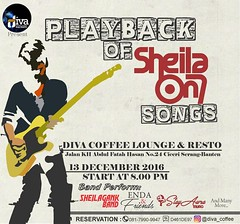 Diva Coffee & Resto Present• A Tribute to 1000.000 Copies Band PLAYBACK OF SHEILA ON 7 SONGS •13 December 2016 •Start At 8.00 PM •At Diva Coffee & Resto Band Perform by •StayAwra Music •Enda & Friends •(G7) SheilaGank Band •and many more... HTM: FREE Let' (kotaserang) Tags: ifttt instagram diva coffee resto present• a tribute 1000000 copies band playback of sheila on 7 songs •13 december 2016 •start at 800 pm •at perform by •stayawra music •enda friends •g7 sheilagank •and many more htm free lets come sing along together reservation phonetext 08179909947 bbm d461de97 ig divacoffee