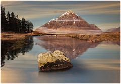 Reflections of  Stob Dearg (Giovanni Giannandrea) Tags: stobdearg buachailleetivemor glenetive rivercoupall glencoe scotland highlands landscape reflection