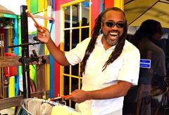 Skip Elliott Bowman -- Steel Drum Island Music (forestforthetress) Tags: man instrument drum music musician omot nikon berts steeldrum calypso color photography flickr