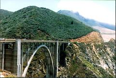 Bixby Bridge 063 (Bill in DC) Tags: ca california film 35mm kodacolor smp3 pch pacificcoasthighway bigsur 1996