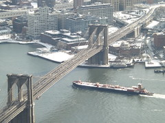 Aerial View, Snow View, Brooklyn Bridge, East River, Brooklyn Bridge Park, One World Observatory, World Trade Center Observation Deck, New York City (lensepix) Tags: aerialview snowview oneworldobservatory worldtradecenterobservationdeck newyorkcity observationdeck brooklynbridge brooklyn bridge