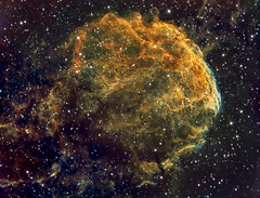 JellyFish Nebula close up (IC443) in HSO (Carballada) Tags: astrophotography astronomy deep space astro celestron zwo as1600mmc skywatcher gso rc8 astrometrydotnet:id=nova1901408 astrometrydotnet:status=solved