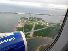 Floyd Bennett Field/Airport (kenjet) Tags: view aerial aerialview fromthewindow windowseat ny newyork water bay jamaicabay barrenisland island barren floydbennettairport floydbennett floydbennettfield airport overview aerialairport