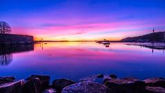 Cold Sunrise (KrishTh) Tags: ifttt 500px sunrise sun sky clouds water sea blue ocean light green beautiful beauty travel city purple heaven kristiansand tresse cold canon colorful colors colours colourful dramatic