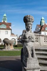 steinerne Figur II (Katzenfutter) Tags: jugendstil bad nauheim badnauheim kurstadt hessen sprudel sprudelhof