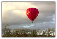Into the Clouds (Audrey A Jackson) Tags: canon60d lakedistrict cumbria hotairballoon red virgin colour trees clouds nature 1001nightsmagiccity