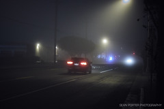 Early foggy mornings 02 (seanporterphotography) Tags: fog foggy mist earlymorning early morning twilight nightscape car suv outdoor outdoors road highway street suburb urban