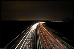 l'A36...c'est beau une route la nuit 🚗 (jamesreed68) Tags: a36 voierapide route nuit alsace 68 hautrhin autoroute bitume poselongue nightshot extérieur paysage urbain nocturne