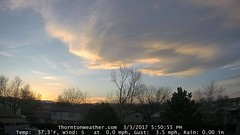 March 3, 2017 - A subtle but pretty sunset (ThorntonWeather.com)