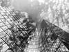 Sur le Defensive (fredoloco) Tags: architecture su noiretblanc surex lumix gf1 micro43 paris blackandwhite clouds reflets reflection ladéfense tour