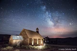 Milky Way over Methodist Church, Bodie