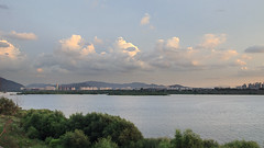 Cloudscape over the Han River. (Johnnie Shene Photography(Thanks, 1Million+ Views)) Tags: light wild people colour macro nature horizontal clouds rural canon river lens wonder photography eos rebel evening countryside dc interesting twilight focus scenery kiss angle riverside natural image outdoor no country wide scenic dramatic sigma tranquility wideangle scene korea korean modified awe 1770 effect tranquil cloudscape adjustment freshness   foreground lateafternoon t3i hanriver x5  namyangju gyeonggido riverscape fragility 284 600d nonurban 1770mm  f284 yangju
