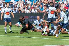 Agen vs Toulouse - Essai de Corey Flynn (SylvainMestre) Tags: france rugby toulouse try sua essai agen stadetoulousain aquitaine coreyflynn top14 armandie