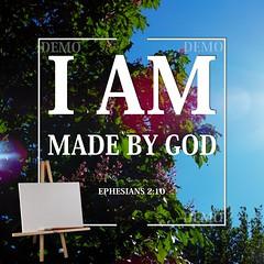 """""""Ik ben door God geschapen"""" Canvasdoek (Zalving.nl - De Zalfolie Webwinkel) Tags: poster god jesus canvas identity yeshua proclamation doek christelijk christelijke"""