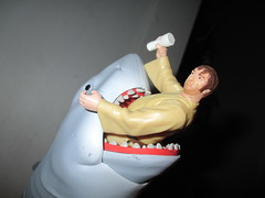 STAR WARS Bartender Wuher and Bruce from JAWS 0997 (Brechtbug) Tags: from fiction sea fish film monster mos giant movie toy toys star shark boat action bruce science aliens retro adventure disaster figure jaws scifi 1975 horror type need sharks spaceship kenner orca wars creature figures cantina bartender bigger 1976 active reaction eisley tatooine funko kraken super7 2015 wuher