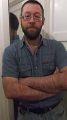 DSCF6687 (rugby#9) Tags: door shirt mirror belt jeans levis blackbelt whitedoor 501s denimshirt shortsleeveshirt levijeans levi501s 501jeans levi501 denimshortsleeveshirt