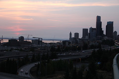 Downtown Seattle from 12th street bridge