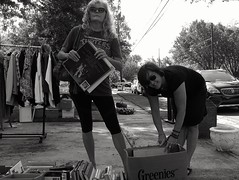 "Garage Sale Girls / Dallas, Texas / August, 2015 (STREET MASTER) Tags: street leica blackandwhite candid streetphotography documentary photostream streetmaster master"" wwwchrisricheycom chrisricheyymailcom christopherricheyphotography christopherrichey chrisricheyphotography chrisrichey dallasstreetphotography dallasstreetphotographer photoshotbychristopherrichey"