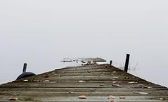 Jetty to nowhere (anek07) Tags: white mist lake halloween water misty sweden jetty sverige vatten vitt dimma värmland sjö vit allhelgona fryken