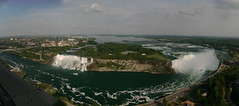 Niagara Falls from Skylon Tower (tristan.serobac) Tags: panorama canada fall river niagarafalls niagara skylontower