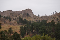 Bighorn sheep area at Fort Robinson State Park