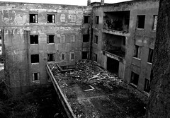 sanatorium (ioannabo) Tags: old windows blackandwhite monochrome architecture photography photo greece sanatorium parnitha