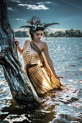 Elizabeth Noir-1 (L-Imaging) Tags: lake chicago art water beauty lady hair model nikon faces crown darkwater laimis limaging