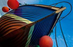 Flying boat (Matthias-Hillen) Tags: blue red sky rot jack boot coast harbor scotland boat highlands aberdeenshire united himmel kingdom highland matthias lad banff blau hafen küste schottland hillen fischerdorf gardenstown fishertown matthiashillen
