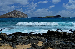 Blue Morning/Blue Day (jcc55883) Tags: ocean sea sky clouds hawaii coast nikon rocks surf oahu shoreline pacificocean nikond3200 makapuubeach d3200