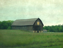 Barn on Green (LBofcourse) Tags: wisconsin flypaper shawanocounty barnquilt