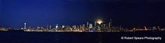 Seattle Moon Rise Panoramic, Nov 2015 (Robert Spears Photography) Tags: seattle moonrise elliottbay
