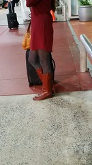 20151119_172816(0) (ph4eveh) Tags: woman sexy legs boots candid tights booties