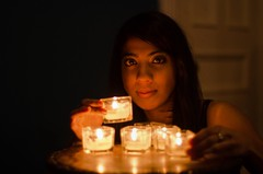 Candles light (Ennev) Tags: light portrait fall 50mm model candles pentax bokeh f14 mileend k5 raji pentaxk5 k5ii pentaxk5ii