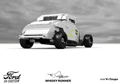 Ford Custom 1934 Coupe - ZZ Top - Whiskey Runner (lego911) Tags: ford 1934 coupe 1930s classic zz top whiskey runner kustom music video auto car moc model miniland lego lego911 ldd render cad povray