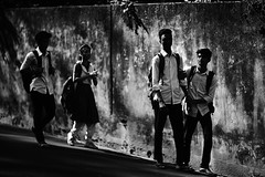 After School Walks (N A Y E E M) Tags: students light afternoon street candid sarsonvalley chittagong bangladesh carwindow