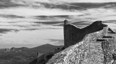 Onde as águias se vêm pelas costas... Marvão (Carla Robalo Martins) Tags: marvão alentejo portugal castelo castle muralhas walls pb bw águia eagle sky céu núvens clouds