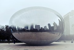 A winter morning at Cloud Gate ~ Beautiful Chicago (r.e. ~) Tags: chicago thebean cloudgate illinois winter usa travels