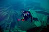 Diving Million Dollar Point (David Basiove) Tags: marine underwater vanuatu espiritu santo million dollar point scubadiver scuba diving film 35mm