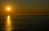 093008-001F (kzzzkc) Tags: nikon d200 usa california sandiego sunsetcliffs pointloma pacificocean fishingboat wake sunset reflection silhouette golden