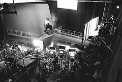 The Bespin gantry set (Tom Simpson) Tags: starwars theempirestrikesback behindthescenes film vintage movie 1979 1970s markhamill lukeskywalker empirestrikesback darthvader