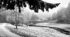 Le moulin de Coupeau (chrisspoirier53) Tags: moulin coupeau st berthevin mayenne laval neige nb noir et blans