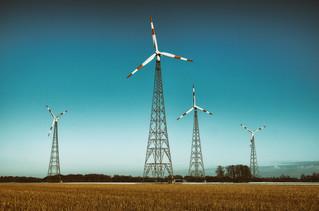 Wind farm & blue sky