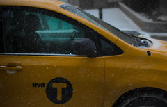 """""""You're only as healthy as you feel."""" -Travis Bickle (grainfultimes) Tags: newyork snow citylife streetphotography cab cabdriver mystery unknown lowlight manhattan yellow uber taxi driver taxidriver"""