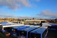 Johnstone Depot at New Year (Fraser Murdoch) Tags: mcgills bus service services ltd greenock johnstone miliken park barrhead depot volvo b7rle citaro e200 alexander dennis adl renfrewshire east coach vehicle transport new years day no fraser murdoch canon eos 650d line up scotland west