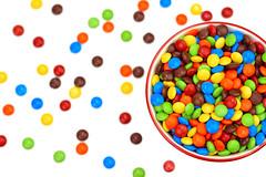 Project 365 - 1/6/2017 - 6/365 (cathy.scola) Tags: project365 odc candy bowl spilled colorful rainbow onwhite food sweet chocolate yummy