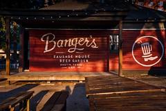 Banger's Sausage House #Austin (Jim Nix / Nomadic Pursuits) Tags: austin jimnix nomadicpursuits sonya7ii texas cityscape mirrorless bangers sausage bar raineystreet sunrise morning luminar macphun sony beer beergarden